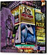 Father Duffy Watching Over Times Square Canvas Print by Lee Dos Santos