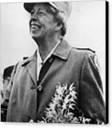 Fdr Presidency. Eleanor Roosevelt Canvas Print by Everett