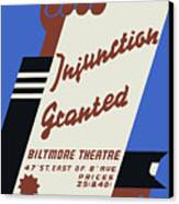 Federal Theatre Project Injunction Granted Canvas Print