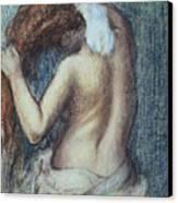 Femme A Sa Toilette Canvas Print by Edgar Degas