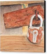 Fence Lock Canvas Print