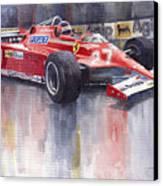 Ferrari 126c 1981 Monte Carlo Gp Gilles Villeneuve Canvas Print by Yuriy  Shevchuk