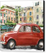Fiat 500 Classico Canvas Print by Michael Doyle