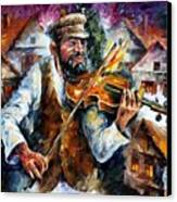 Fiddler From The Sky Canvas Print