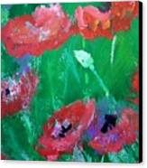 Field Of Red 2 Canvas Print