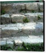 Fieldstone Stairs New England Canvas Print
