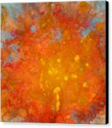 Fiery Sunset Abstract Painting Canvas Print by Julia Apostolova