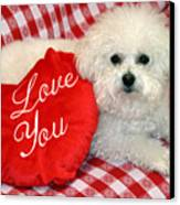 Fifi Loves You Canvas Print by Michael Ledray