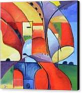 Figure Landscape Abstract Canvas Print