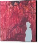 Figure Under Black Cloud Canvas Print