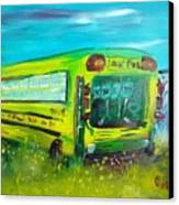 Final Bus Stop  Canvas Print by Steve Jorde