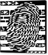Fingerprint Scanner Maze Canvas Print