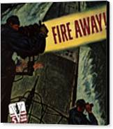 Fire Away Canvas Print by War Is Hell Store