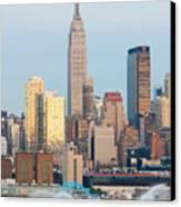 Fire Boat And Manhattan Skyline IIi  Canvas Print