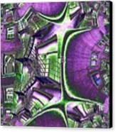Fire Escape Fractal Canvas Print