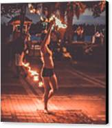 Fire Girl Canvas Print by Claudia M Photography