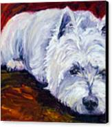 Fire Glow - West Highland White Terrier Canvas Print by Lyn Cook