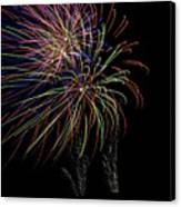 Fire Works Canvas Print by Kelly Schuler