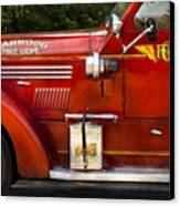 Fireman - Garwood Fire Dept Canvas Print by Mike Savad