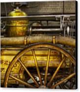 Fireman - Piano Engine - 1855  Canvas Print by Mike Savad