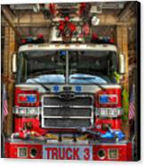 Fireman - Fire Engine Canvas Print by Lee Dos Santos