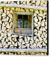 Firewood Canvas Print by Frank Tschakert
