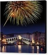 Fireworks Display, Venice Canvas Print