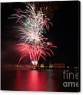 Fireworks In Greenwich  Canvas Print