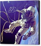 First American Walking In Space, Edward Canvas Print