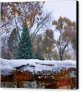 First Colorful Autumn Snow Canvas Print