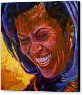 First Lady Michele Obama Canvas Print by David Lloyd Glover