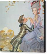 First Love Canvas Print by Konstantin Andreevic Somov