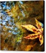 First Sign Of Fall Canvas Print by Sari Sauls