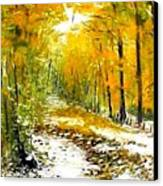 First Snow Canvas Print by Boris Garibyan