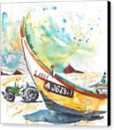 Fisherboat In Praia De Mira Canvas Print