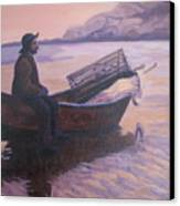 Fisherman At Good Harbor Beach Gloucester Circa 1880 Canvas Print