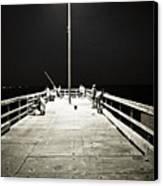 Fishing At Night Canvas Print