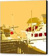 Fishing Boat At The Dock Canvas Print