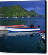 Fishing Boats At Sunrise- St Lucia Canvas Print