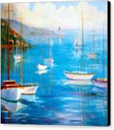 Fishing Port Canvas Print