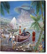 Fishing Village Canvas Print by Emmanuel Dostaly
