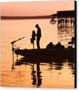 Fishing With Daddy Canvas Print by Bonnie Barry