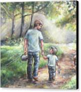 Fishing With My Dad  Canvas Print by Laurie Shanholtzer