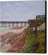 Flagler Beach Pier 1 Canvas Print