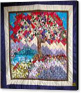Flame Tree Quilted Wallhanging Canvas Print by Sarah Hornsby