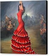 Flamenco Dancer Canvas Print by Mai Griffin