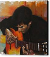 Flamenco Guitar Player Canvas Print