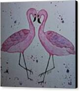 Flamingo Dance Canvas Print by Ginny Youngblood