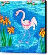 Flamingo Canvas Print by Sushila Burgess