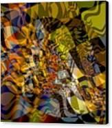 Flat Fractal Canvas Print